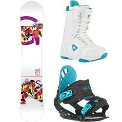 Dámský snowboard komplet