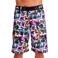 69Slam Dlouhé Boardshort eves leaves