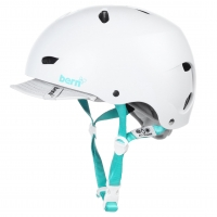 Bern Brighton satin white visor
