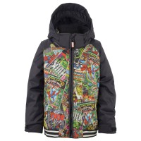 Burton Boys Minishred Game Day marvel/true black