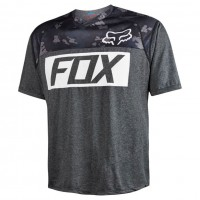 Fox Indicator Ss Prints Jersey heather black
