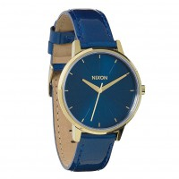 Nixon Kensington Leather blue/light gold patent