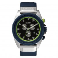 Nixon Rover Chrono midnight blue/volt green