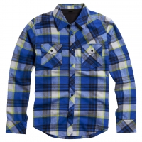 Fox Decker Ls Flann. tech blue