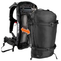 Burton Ak 23L Abs Vario Cover true black heather