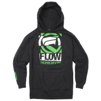 Flow Diced Youth Hoodie black