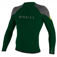 O'Neill Hyperfreak 1.5 Mm Ls Crew combat/graphite/lime