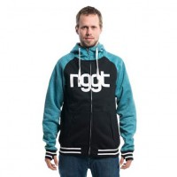 Nugget Captain Technical Hoodie heather petrol/black