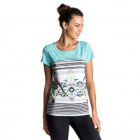 Roxy Thana Tee marshmallow psyche palm repeat