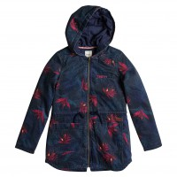 Roxy Primo Parka Printed midnight palm peacoat
