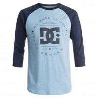 DC Rebuilt Raglan heather blue