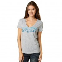 Fox Fascinate Vneck light heather grey