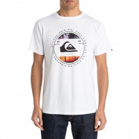 Quiksilver Classic Tee Between The Lines white