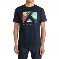 Quiksilver Classic Tee Vanishing Point navy blazer