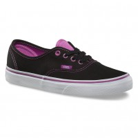 Vans Authentic clear eyelets blk/radiant orchid