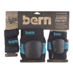 Přejít na produkt Bern Junior Pad Set blue on black 2017