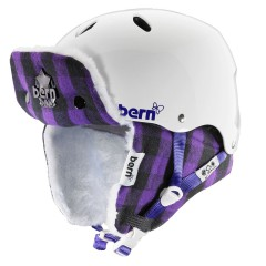 Bern Brighton gloss white/purple buffalo hunt. 2013/2014