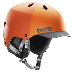 Bern Watts matte orange hatstyle 2013/2014