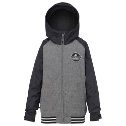 Burton Boys Game Day heather iron grey/true black