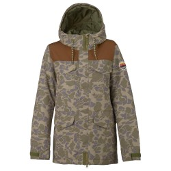 Burton Fremont petal camo/brown leather