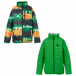 Burton Yth Flex Puffy slime/slime surf stripe
