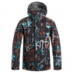 Quiksilver Mission Printed Youth hieline blue