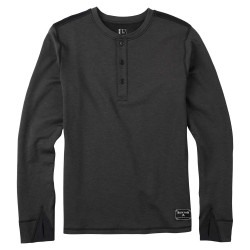 Burton Expedition Wool Henley true black heather