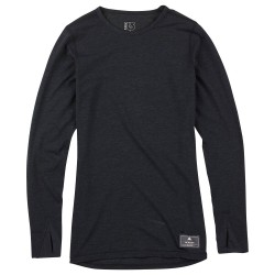 Burton Wms Midweight Wool Crew black heather