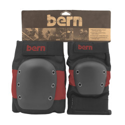 Bern Adult Pad Set red on black