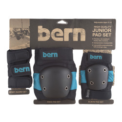 Bern Junior Pad Set blue on black