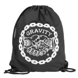 Gravity Handshake Cinch Bag black