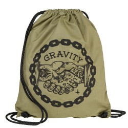 Gravity Handshake Cinch Bag canvas