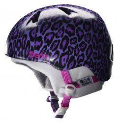 Bern Nina satin purple leopard