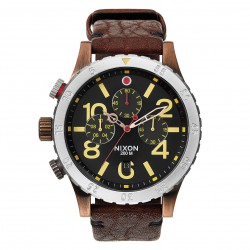 Nixon 48-20 Chrono Leather antique/copper/brown