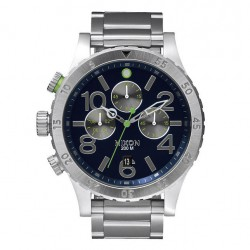 Nixon 48-20 Chrono midnight blue/volt green