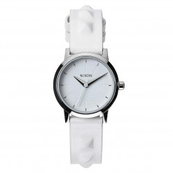 Nixon Kenzi Leather all white/studded