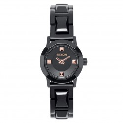 Nixon Mini B Ss all black/rose gold