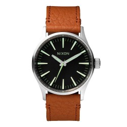Nixon Sentry 38 Leather black/saddle