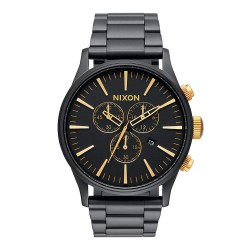 Nixon Sentry Chrono matte black/gold