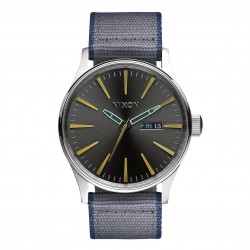 Nixon Sentry Leather gunmetal/grey