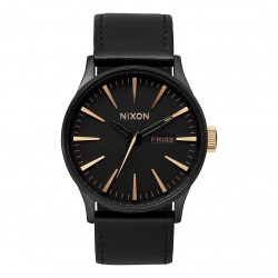 Nixon Sentry Leather matte black/gold