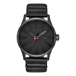 Nixon Sentry Leather Sw kylo black