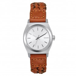 Nixon Small Time Teller Leather saddle woven