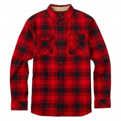 Burton Brighton Flannel process red shadowbox