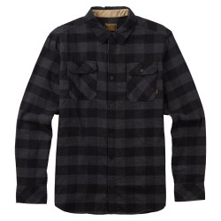 Burton Brighton Flannel true black heather buffalo
