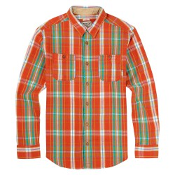 Burton Fairfax Flannel red clay essex plaid