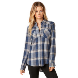 Fox Flown Flannel dusty blue