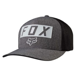 Fox Moth Stacked Flexfit heather graphite