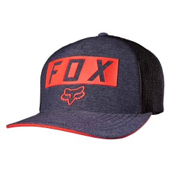 Fox Moth Stacked Flexfit heather navy