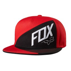 Fox Overlapped Snapback flame red